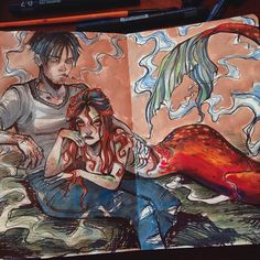 Gretel Lusky — You're either lucky or screwed. Art And Illustration, Sketchbook Inspiration, Art Sketchbook, Character Art, Character Design, Mini Canvas Art, Mermaid Art, Princesas Disney, Art Tutorials