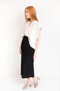 Miranda Bennett Paperbag Skirt / Black
