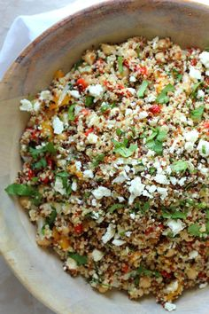 Quinoa and Feta Summer Salad by Foodness Gracious