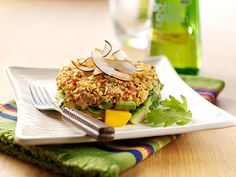 Crab, mango and avocado salad with elderflower dressing and melba toast curls - Bottle Green