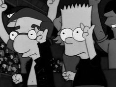 Black and White nirvana rock the beatles Grunge the simpsons paramore panic! at the disco punk fox Arctic Monkeys bart bart simpson pink floyd rock n roll metallica Green Day Guns N Roses AC/DC Rolling Stones the doors Led Zeppelin soad Rock And Roll, Cartoon Cartoon, Simpsons Cartoon, Simpson Tumblr, Pics Art, Jeff The Killer, The 1975, Alex Turner, Melanie Martinez