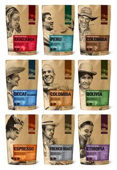 用人物詮釋咖啡產地特色-包裝 | MyDesy 淘靈感