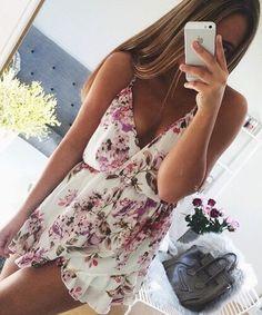 Floral jumpsuit for summer