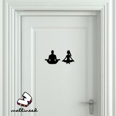 Yoga Toilet Sign From wallineed..com