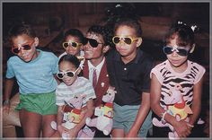 Michael Jackson and his nieces and nephews