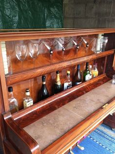 Re-purposed old piano. Beautiful piano converted to a bar, 95 per cent of original wood used, front