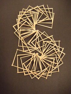 This is a lesson with step by step directions for creating paper linear sculptures using toothpicks