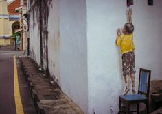 New Interactive Street Art by Ernest Zacharevic  Doe anyone have a spare wall I can try this on... being artsy I am just dying to take a spin at this type of art. Looks awesome!