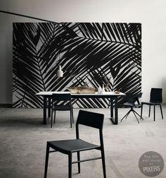 Wall Mural Palma black & white wall mural • Inspirations • PIXERSIZE.com