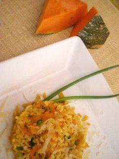 arroz integral com abóbora