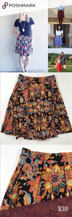 Lularoe Madison The cutest, most versatile skirt out there!  Lularoe Madison is a staple. NWOT. Great with tshirts, tank tops or blouses! LuLaRoe Skirts