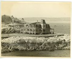 1953 PHOTO MA Massachusetts Marblehead Historic Victorian House on Shore Victorian House, Alchemy, Massachusetts, Worlds Largest, Boston, Photographs, Black And White, Contemporary, The Originals