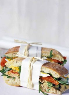 Create this ultimate deli-style sarnie with ciabatta bread stuffed full of tuna, egg and veggies for a healthy, yet satisfying lunch-time meal. Ready in no time at all, this sandwich is fresh and tasty.