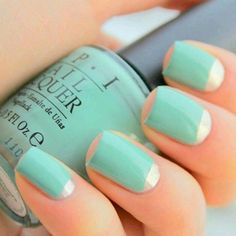 Easter & Summer ~ simple & classy nail art. Could even use other colors.