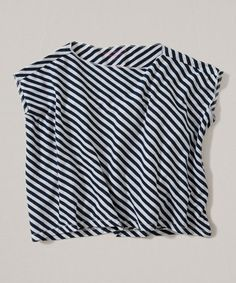 Diagonal stripes detail this organic cotton tee, styled with a boxy drop-shoulder silhouette. Burts Bees, Organic Cotton, Kids Fashion, Stripes, Toddler Girls, Tees, Clothes, Baby, Women