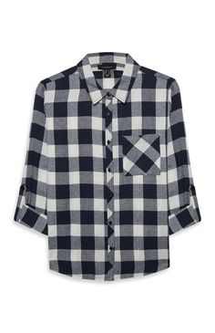 Primark - Blue Basic Checked Shirt $6