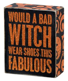 love this bad witch box sign by primitives by kathy on zulily - Primitives By Kathy Halloween