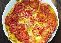 Tomato Frittata -  side dish, vegetarian main course, or for breakfast!