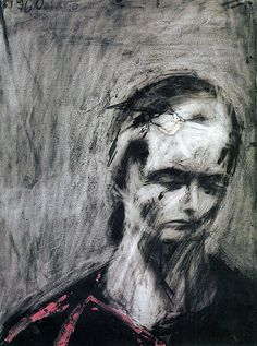 Frank Auerbach - Julia I do not like this image here by Frank, I think its a bit to scribbly and messy for me. I don't think it's a bad drawing/painting but it doesn't quite give me that good feel about it. I also think it had a dark feel to it, like theirs a lot of sadness and pain in it, hence the colours as well.