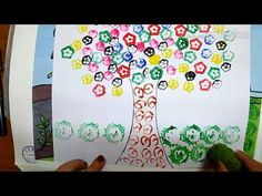 How To Do Vegetable Printing Paper Folding Crafts, Diy Paper, Paper Crafts, Diy Crafts, Finger Paint Art, Finger Art, Vegetable Painting, Vegetable Prints, Summer Crafts For Kids