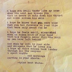 Tyler Kent White. I can't get over these amazing poems. Alongside some of my other favorite writers.