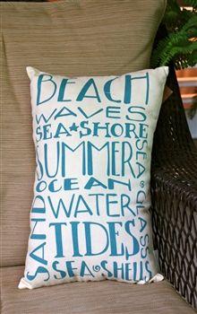 Beach Waves Pillow.