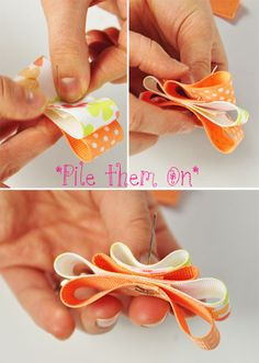 ribbon hairbow tutorial.