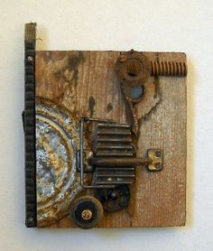 Machinery of Happiness found object assemblage by tristanfrancis, $250.00