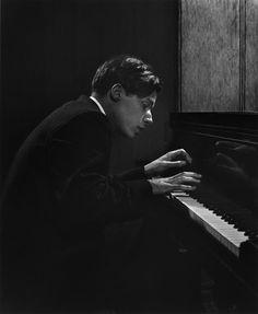 "Glenn Gould: ""I believe in God — Bach's God."" Photograph by Yousuf Karsh, 1957."