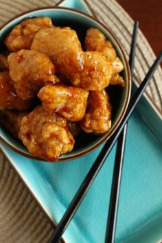 ***Jared's General Tso's Chicken: I'm going to make these with GF flour, honey (and less of it) instead of sugar, and arrowroot instead of cornstarch... We shall see...