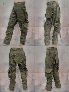 Techno, Tactical Pants, Tactical Clothing, Survival Clothing, Survival Gear, Tribal Fashion, Mens Fashion, Steampunk Fashion, Gothic Fashion