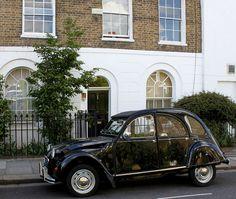 Citroen 2CV & Georgian House: Black Lion Lane. Perfect French chic comes at a price...