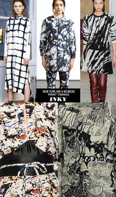 pattern people AW14 Womens Print Trends NY INKY1 Runway | AW14 Womens New York Print Stories