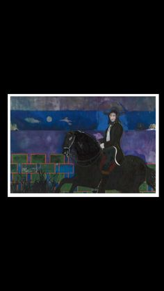 . Peter Doig - Horse and Rider, 2014 - Oil and distemper on canvas - 240 x 360 cm