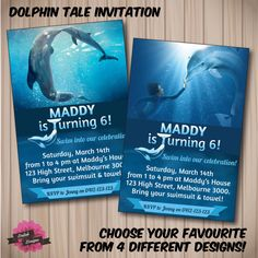 Dolphin party invitations famous dolphin 2018 new dolphin birthday invitations invitation cards filmwisefo