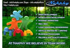 #NakphyITFirm Provides all kinds of IT solution with affordable price by our #experiencedwebdeveloper.  Or get a #freelancer as #dedicatedhire from our #experienced team.  Get best rate on #Websiteclone, #mobileappsclone #internetmarketing http://on.fb.me/1hrwEYH http://nakphy.com