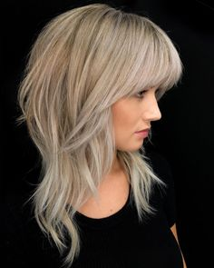 Love Hair, Great Hair, Gorgeous Hair, Medium Hair Styles, Short Hair Styles, Dramatic Hair, Hair Affair, Layered Hair, Medium Layered