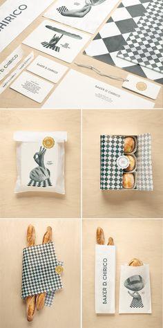 Australian baker Daniel Chirico. Designed by Fabio Ongarato  tetszik a kockás burkolópapír