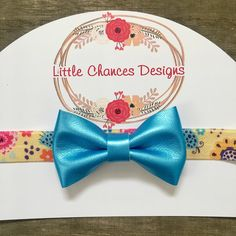 Yellow and blue bow baby headband, spring and summer headband, flower headband, ladybug headband, toddler bow headband, blue bow by littlechancesdesigns on Etsy https://www.etsy.com/listing/527276375/yellow-and-blue-bow-baby-headband-spring
