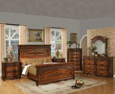 Incroyable Furniture Classic Oak Bedroom With Brown Color In Online Furniture Store  Buying The Furniture Into The