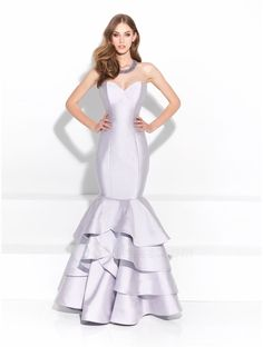 Sheath Mermaid Sleeveless Strapless Zipper Back Prom Dress with Ruffles