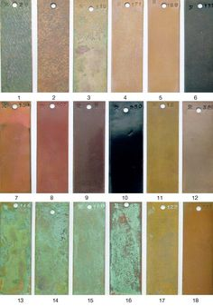 METALS FINISH GUIDE-(AB) Patina Metal, Bronze Patina, Patina Finish, Wood Siding, Exterior Siding, Metal Clay, Metal Art, Metal Facade, Metal Texture