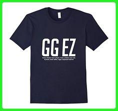 Mens GG EZ Funny Video Game Geek Statement Tshirt Tee XL Navy - Gamer shirts (*Amazon Partner-Link)