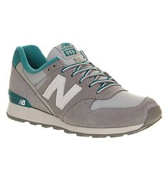 New Balance Wr996 Light Grey Teal - Hers trainers