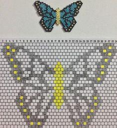 Collier papillon tressé perles