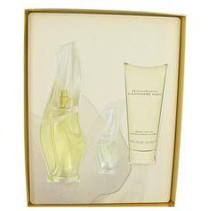 CASHMERE MIST by Donna Karan Gift Set -- 3.4 oz Eau De Parfum Spray + 3.4 oz Body Lotion + .17 oz Mini EDP (Women)