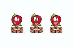 Miam Miam - Label pour nourriture d'enfants Corporate Branding, Logo, Food, Children, Logos, Brand Management, Logo Type, Environmental Print