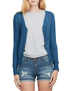 LE3NO Womens Soft Fitted Basic Cardigan Sweater | LE3NO Long Blazer Jacket, Cropped Denim Jacket, Ripped Denim, Distressed Denim, V Neck Cardigan, Cardigan Sweaters For Women, Cardigans For Women, Sweater Cardigan, Women's Cardigans