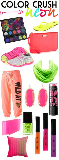 Color Crush: Neon | The neon things you must have. #youresopretty