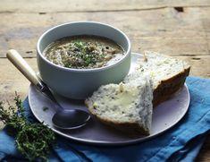 Jerusalem Artichoke, Mushroom & Thyme Soup Recipe | Abel & Cole